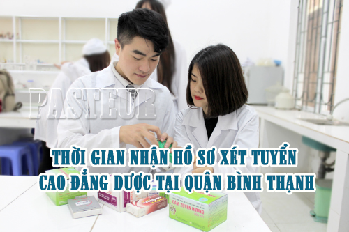 Thời gian nhận hồ sơ xét tuyển cao đẳng dược