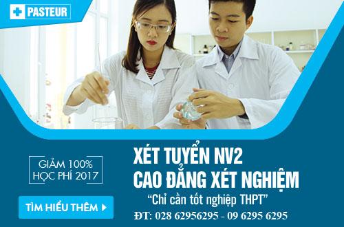 Xét tuyển NV2 Cao đẳng Xét nghiệm TPHCM