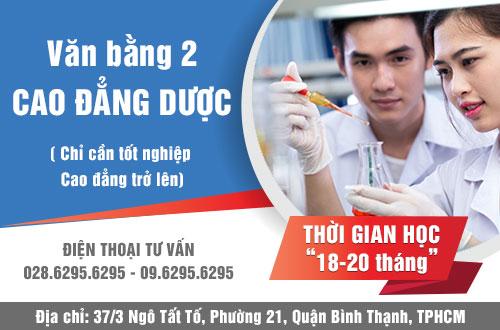 Tuyển sinh VB2 Cao đẳng Dược tại TPHCM