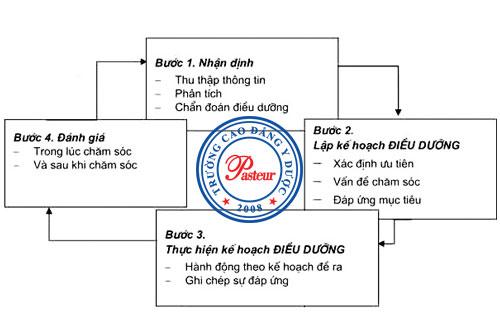 Các bước trong quy trình điều dưỡng