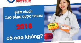 Điểm chuẩn Cao đẳng Dược TPHCM năm 2018 như thế nào?