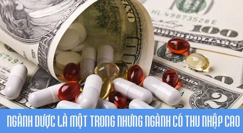 Thu nhập hàng tháng của Dược sĩ cao