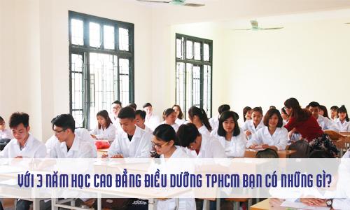 Học Cao đẳng Điều Dưỡng TPHCM sẽ có việc làm ổn định