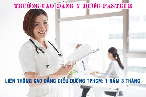 Học liên thông Cao đẳng Điều dưỡng trong thời gian 1 năm 3 tháng