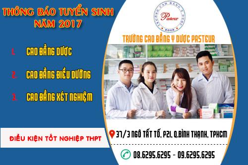 Cao đẳng Y Dược Pasteur tuyển sinh năm 2017