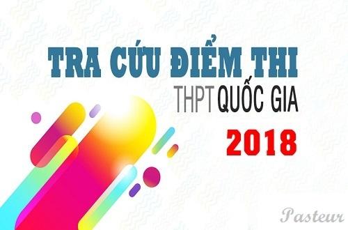 Tra cứu điểm thi THPT quốc gia năm 2018