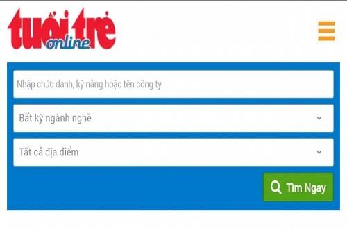 Tân sinh viên có thể tìm việc trên trang Trang Vieclam.tuoitre