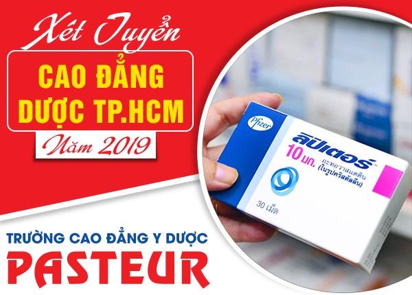 Cao đẳng Y Dược Pasteur xét tuyển Cao đẳng Dược TPHCM năm 2019