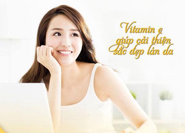 Vitamin E giúp cải thiện sắc đẹp làn da